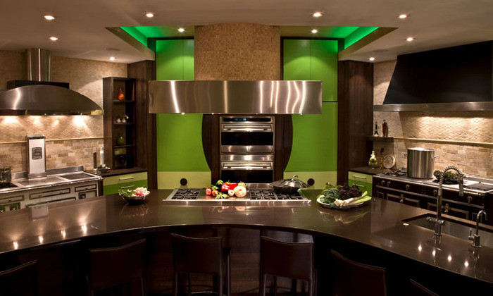 Best kitchen interior design ideas modern big kitchen design for Big island kitchen design