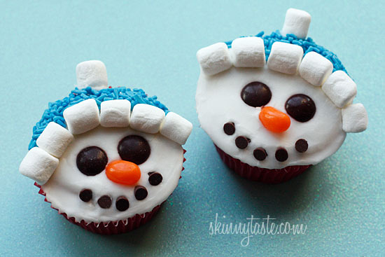 These adorable snowman cupcakes are low fat easy to make and they are