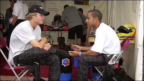 Hamilton y Rosberg: vuelta de pagina y aca no paso nada