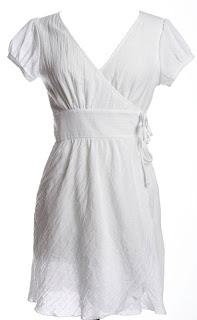 White Wrap Gown