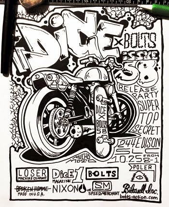 Dice/Bolts Action Issue 58 Release Party. Salt Lake City, UT. Saturday October 25th. 8 til 1.