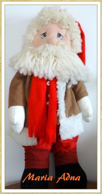 Papai Noel, Maria Adna, Maria Adna Ateliê, Decoração natalina, Decoração de Natal, Artigos de Natal, Natal, Patchwork bolsas e afins