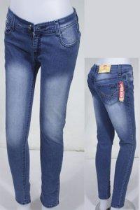 Jeans LOGO Super Slim 151.060 - Biru Dongker (Toko Jilbab dan Busana Muslimah Terbaru)
