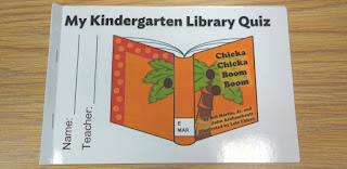 Kindergarten Library SLO Quiz Booklet | Mrs. J in the Library @ Library Freebies