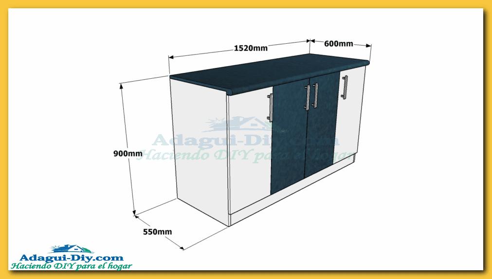 Como hacer muebles de cocina  Web del Bricolaje Diseño Diy