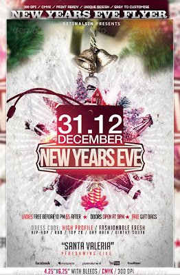 New Years Eve Flyer Photoshop PSD Template