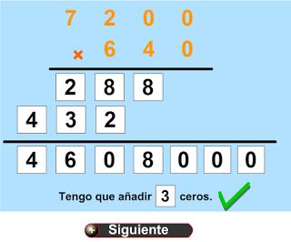 Multiplicaciones con ceros