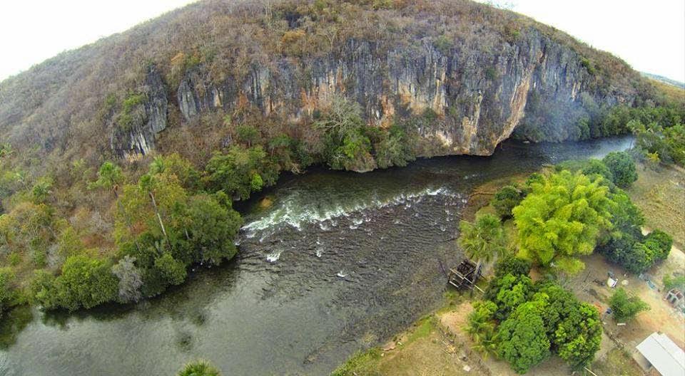 Rio Itaguari Côcos Bahia - Vista aérea RIO DO PAREDÃO