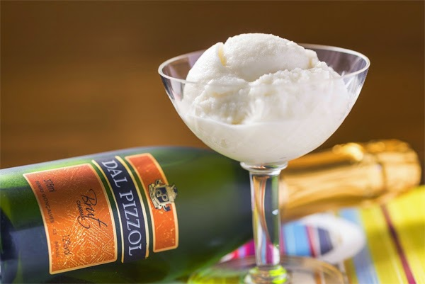 sorvete gourmet de espumante Brut Dal Pizzol
