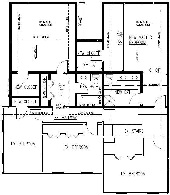 Elba farm house addition plans for Existing house plans
