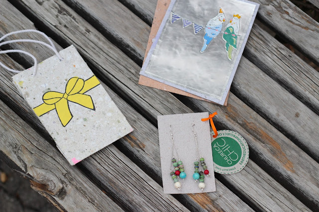 Recycled paper products and jewelry