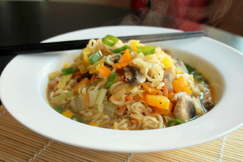 ... with a Quick and Easy Vegetable Ramen Noodle Soup - Not Quite a Vegan