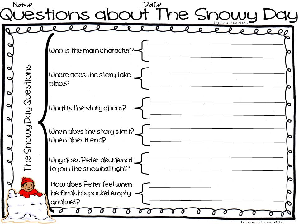 ... Teacher's Edition: The Snowy Day by Ezra Jack Keats - Teaching Ideas