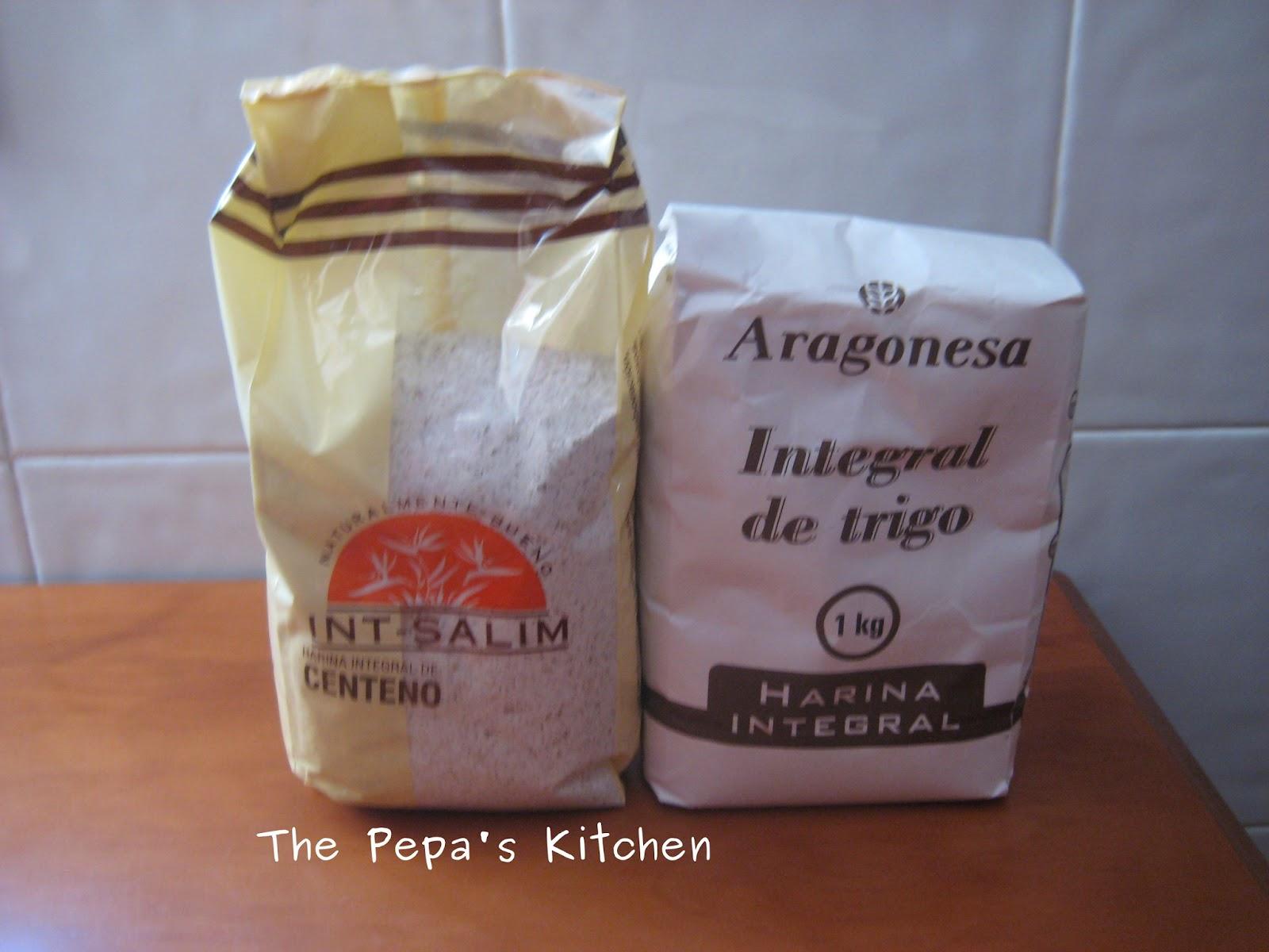 The pepa s kitchen pan integral con harina integral de - Harina integral de trigo ...