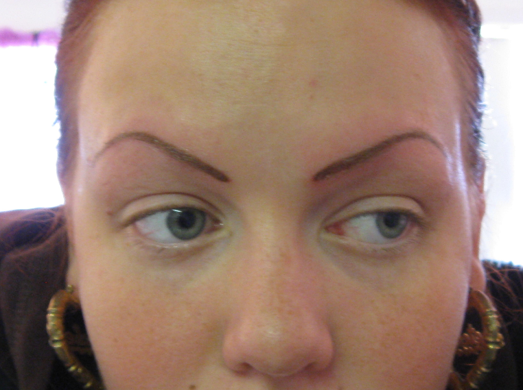 Tattooed eyebrows permanent eyebrow tattoos for Tattooed eyebrows pictures