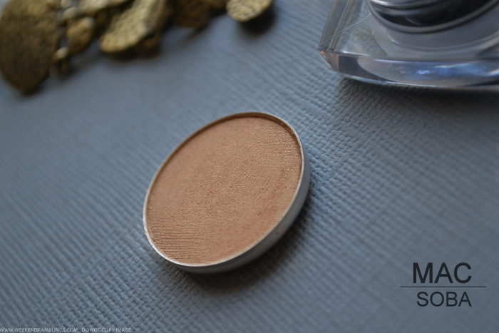 MAC Soba Eyeshadow - Photos Swatches Review