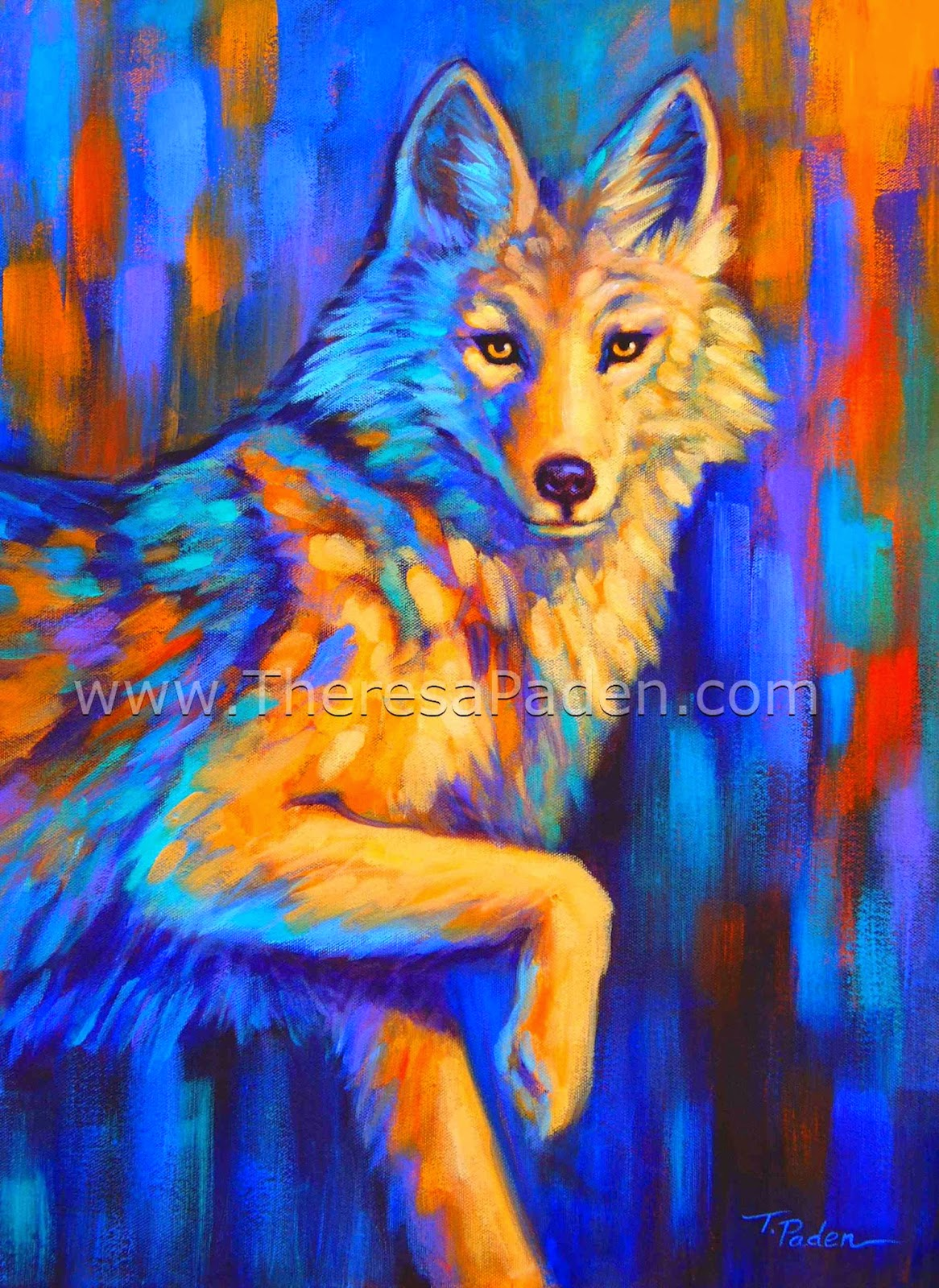 Paintings By Theresa Paden Colorful Contemporary Animal Paintings