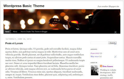 Make Category Tabs in Blogger
