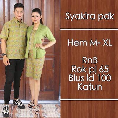 Baju Sarimbit Batik Pasangan Syakira Hijau