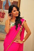 Anasuya dazzling saree photos-thumbnail-10