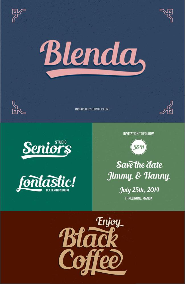35 Font Script untuk Desain grafis - Blenda Script Font