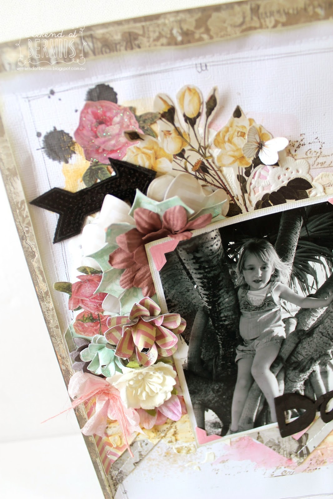Darling layout by Bernii Miller using Marion Smith Designs collection.
