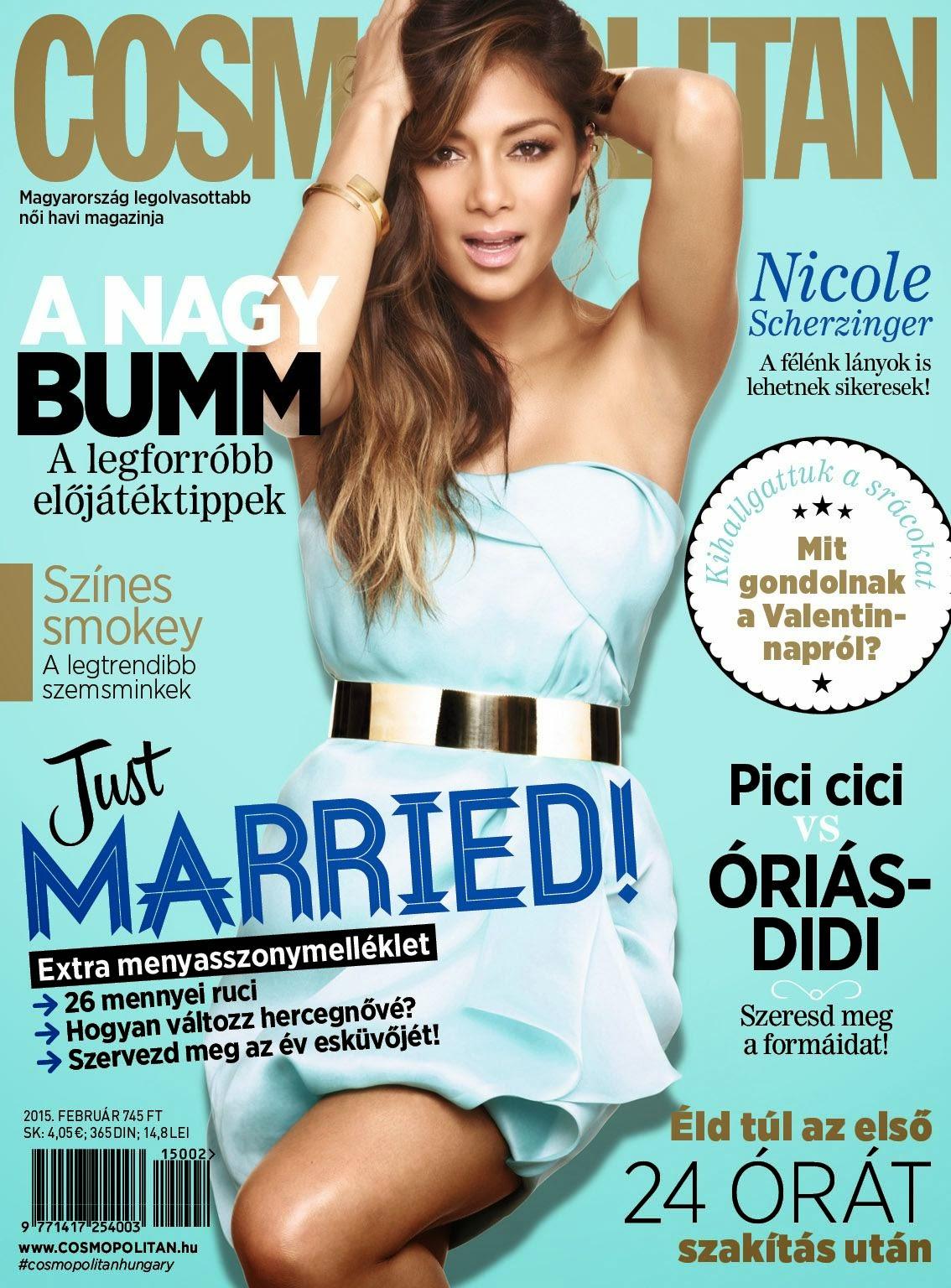 Nicole Scherzinger - Cosmopolitan, Hungary, February 2015