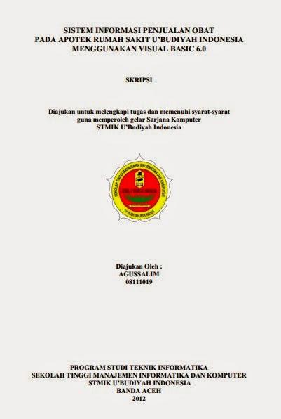 Skripsi sistem informasi penjualan obat pada apotek rumah sakit u skripsi sistem informasi penjualan obat pada apotek rumah sakit ubudiyah indonesia menggunakan visual basic ccuart Gallery