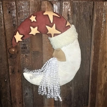 CRESCENT MOON SANTA DOOR HANGER