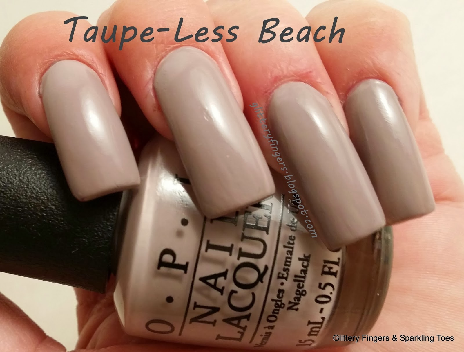Glittery Fingers & Sparkling Toes: Review OPI Taupe-Less Beach ...