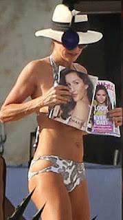 Brooke Burke Grey Bikini Mexico