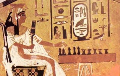 Fresco de la tumba de la reina egipcia Nefertari