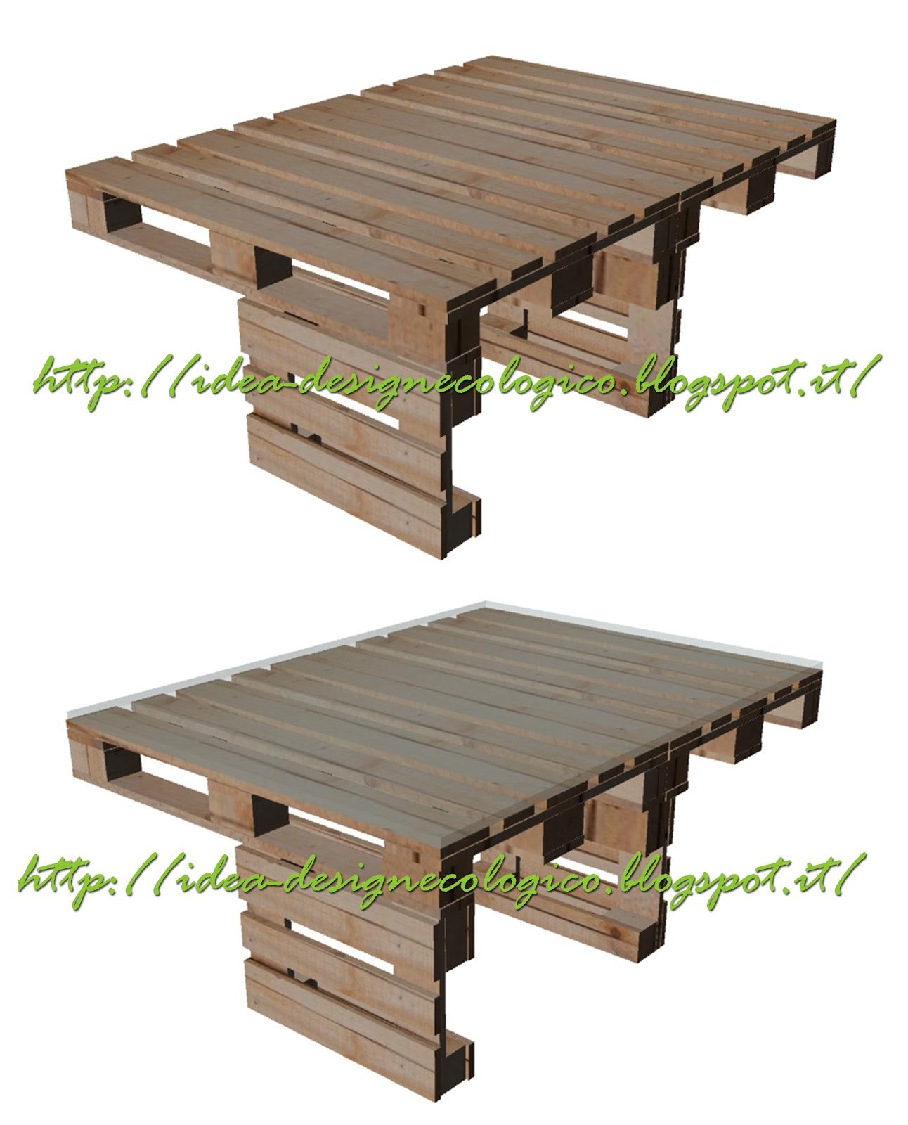 Divano per esterni e tavolo fatto con con pallet mobili - Tavoli fatti con bancali ...