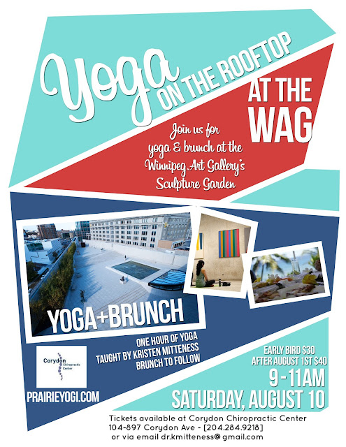 winnipeg yoga, winnipeg events, yoga and brunch, corydon chiropractic centre, WAG events, Winnipeg Art Gallery