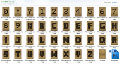 Printable Minecraft alphabet bunting