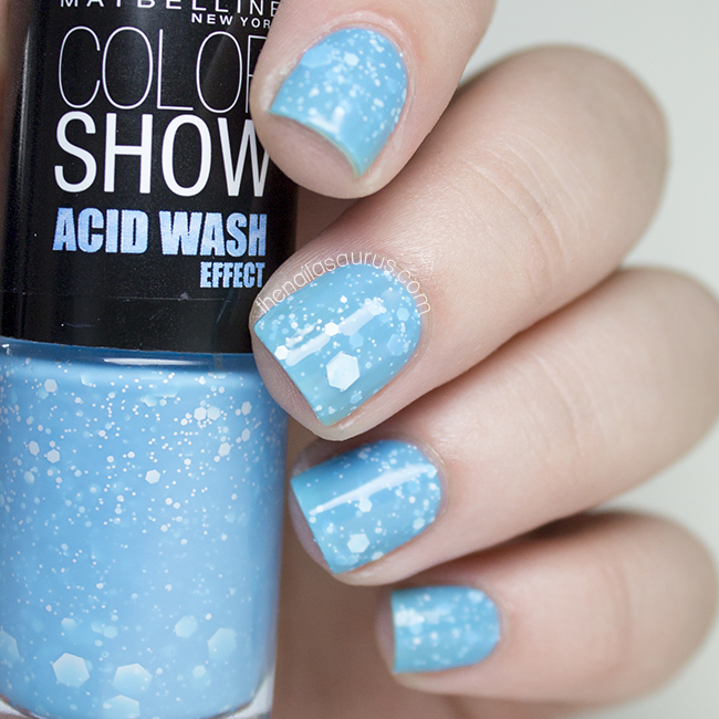 Maybelline Acid Wash Effect: Ripped Tide Swatch | The Nailasaurus
