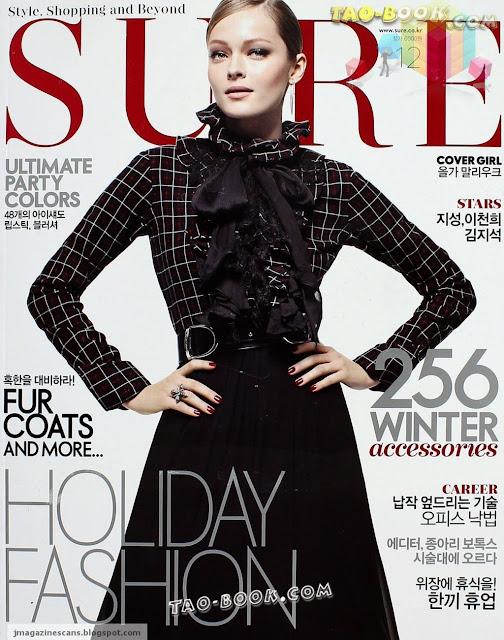 Sure Decemeber 2012 korean fashion magazine scans Olda Maliouk