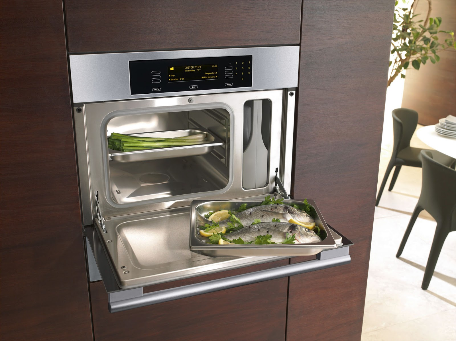 Time2design custom cabinetry and interior design kitchen for Steam fish in oven