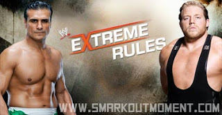 WWE Extreme Rules 2013 I Quit Match Alberto Del Rio vs Jack Swagger