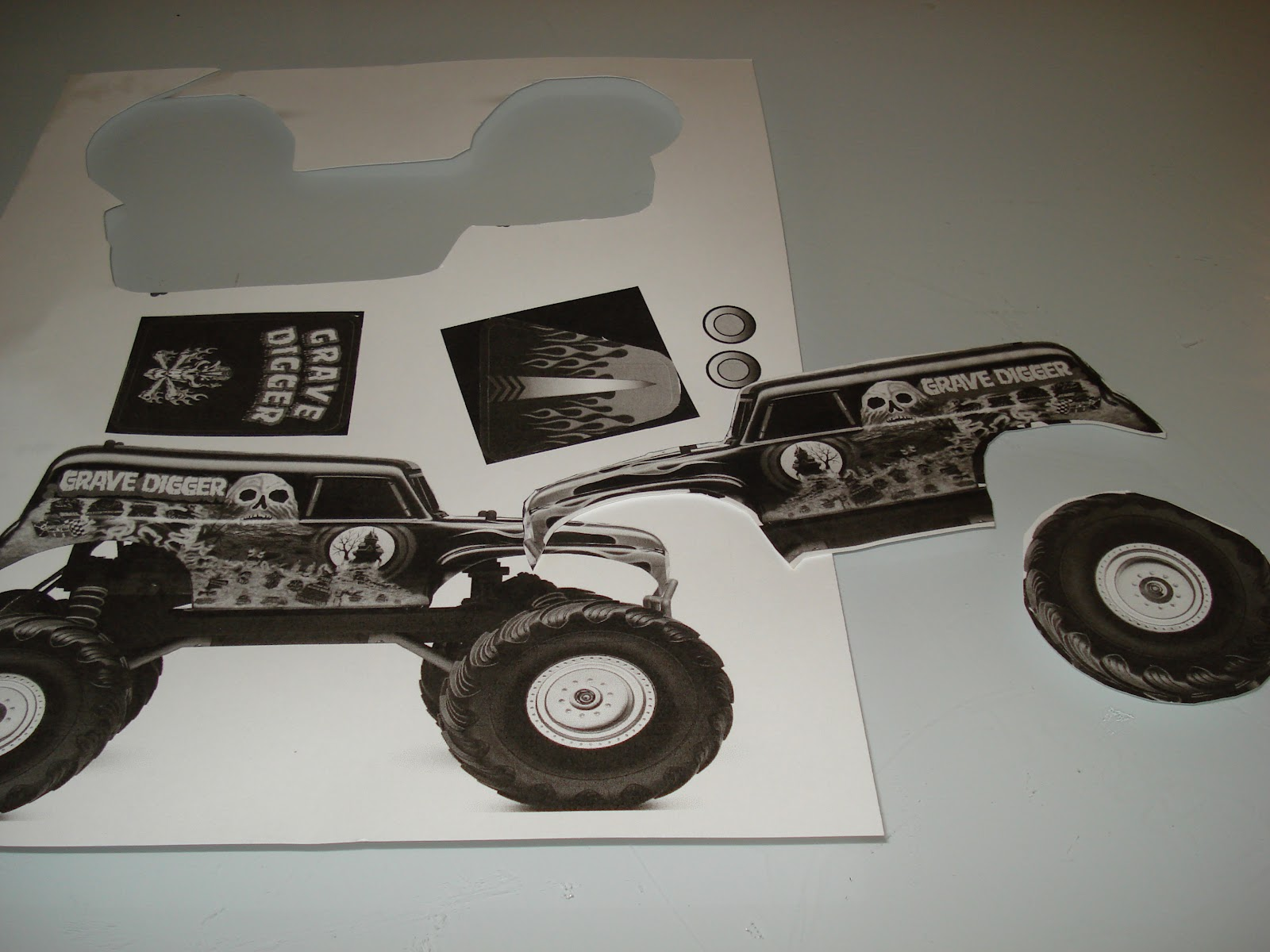 digger cake template - rooneygirl cupcakes starting from scratch monster truck