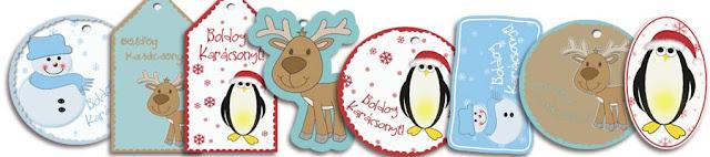 Karácsonyi ajándékcimkék