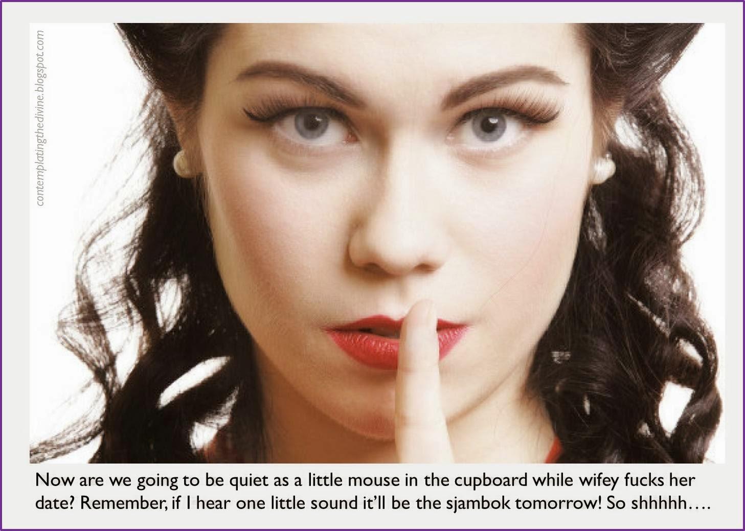 Silenced cuckold femdom