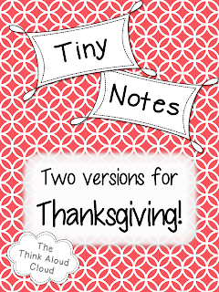 Tiny Notes for Thanksgiving