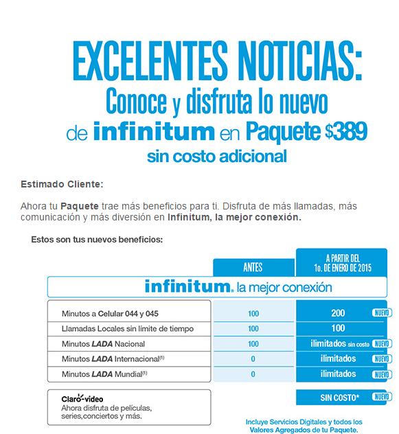 Nuevos beneficios Infinitum 2015
