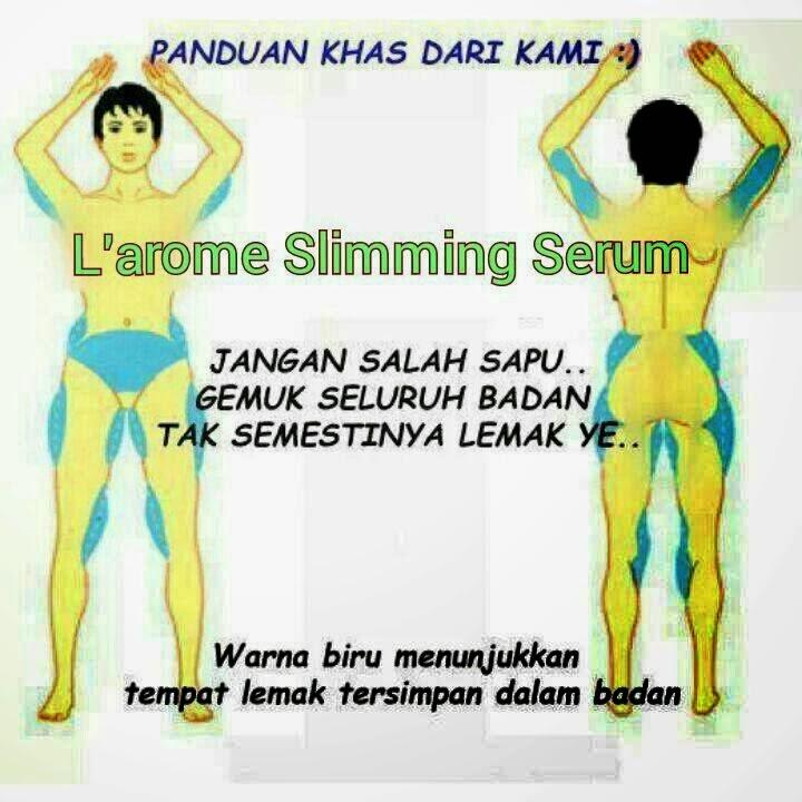 cara penggunaan l'arome slimming serum