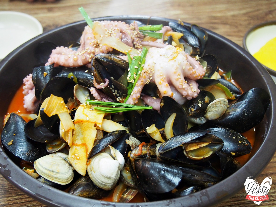 Food: 미소家 Spicy Seafood Noodle House - JJAMBBONG (Paju, Korea)