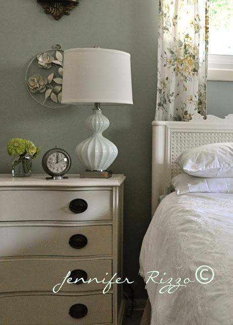 Light dresser with dark handles