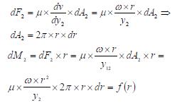 Ley de Newton de la viscosidad superficie inferior ejercicio 4