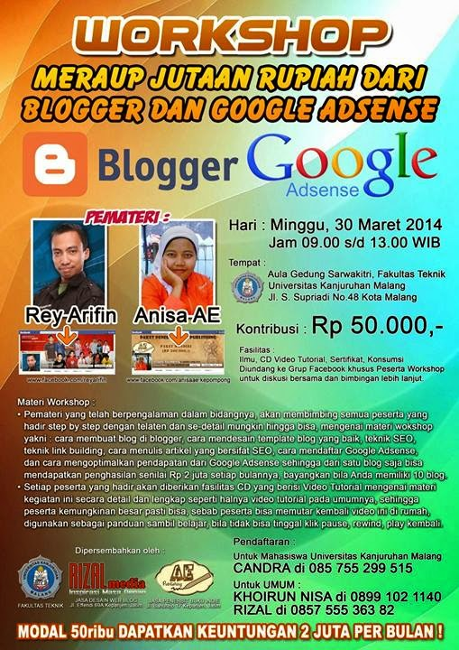 Pemateri Anisa AE dan Rey Arifin