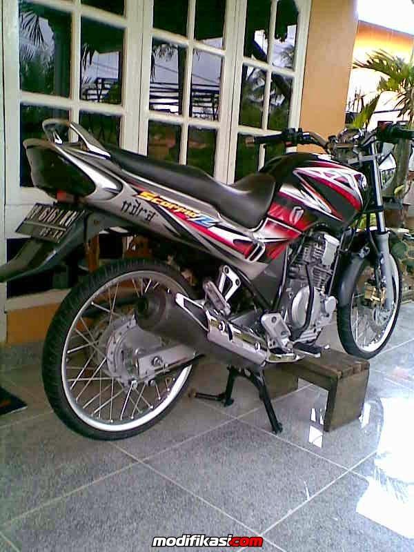 modifikasi motor yahama scorpio ceper